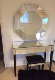 Dressing table, stool & mirror