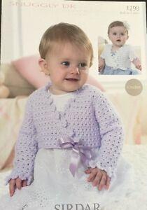 Sirdar DK Babies  Girls  Crochet Pattern Ballet Shrug Cardigan