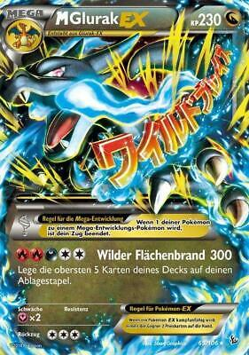 Pokemonkarte M Glurak EX, Flammenmeer, 69/106 Pokemon Karte M Glurak Ex
