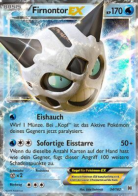 Pokemon XY8 Karte, Firnontor EX, Turbostart, 34/162