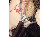 A pair of Head badminton rackets