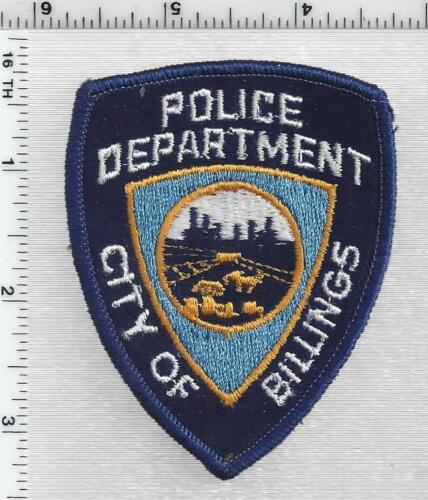 Billings Police (Montana) 1st Issue Cap/Hat Patch