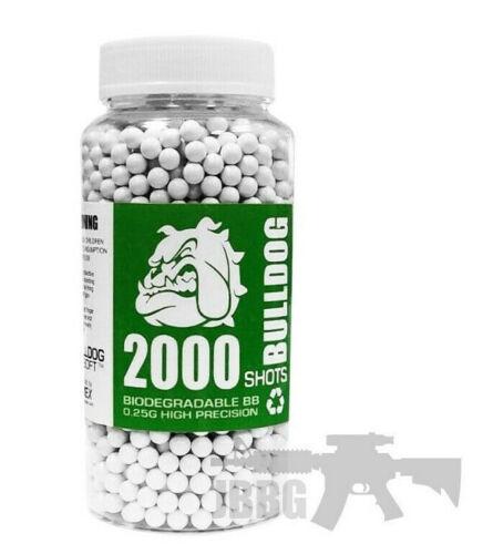 Bulldog [2000] Airsoft BBs [0.25g] 6mm Precision Match PRO Grade Biodegradable