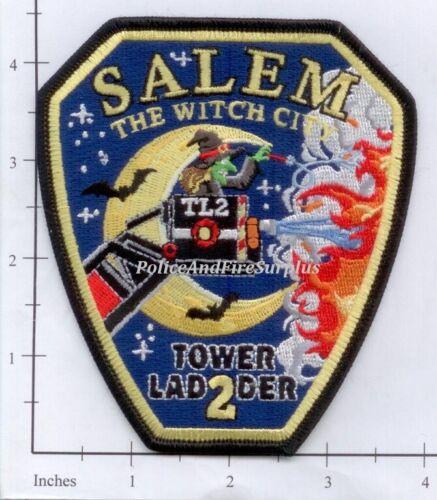 Massachusetts - Salem MA Ladder 2 Fire Dept Patch - Witch City