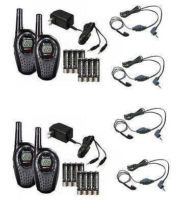 (4) Cobra Cxt235 Microtalk 20 Mile Walkie Talkie 2-way Ra...