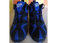 **Reebok Kamikaze I Mid Basketball Boot Black/Blue Adult Size 8.5**