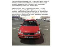 2004 54 plate Volkswagen Polo 1.2 Petrol