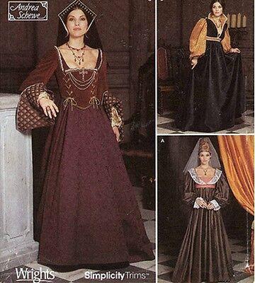 ROYAL NOBLE LADIES RENAISSANCE COSTUMES SEWING PATTERN OOP 6-8-10-12 - Noble 6 Costume