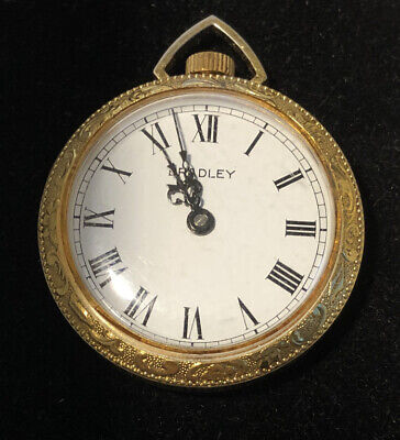 BRADLEY Early 1900's Pocket Watch-Swiss Movement Gold Plated Does Not Work