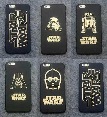 New Gold Design Star Wars Character Hard Case For iPhone 5S 6S Plus 7 Plus