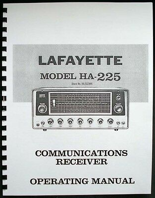 Lafayette Ha225 Ha-225 Communications Receiver Operating Manual