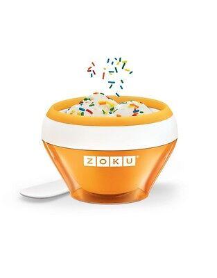 Zoku Instant Ice Cream Maker Gelato Sorbet Recipes Included Orange