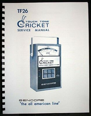 Sencore Tf-26 Tf26 Cricket Touch Tone Fet And Transistor Tester Manual