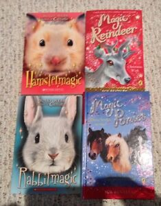"4 ""Magic Animal"" books by Sue Bentley and Holly Webb"