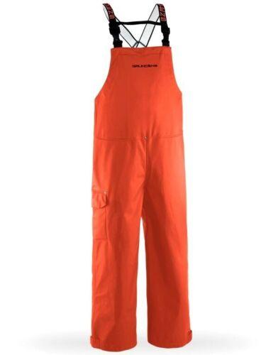 NEW Orange Grundens Neptune 509 Bibs Trousers Bibtrousers Fishing Rain Bib Pants