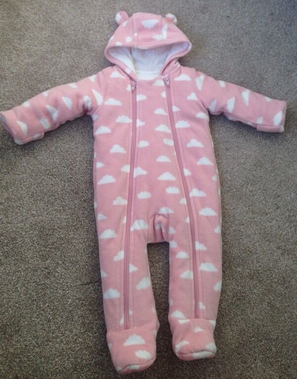 M&S Baby Girl Snowsuit 3-6 Months