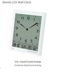 Franklin CL-1 Large Atomic Digi-Analog Clock, Day/Date, Indoor Temp & Humidity