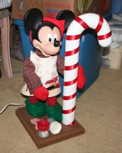 Animated Mickey Mouse Painting a Candy Cane