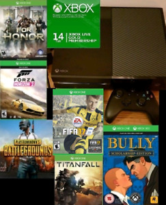 XBOX One 500gb bundle w 6 games and LIVE Trade for PS4 bundle