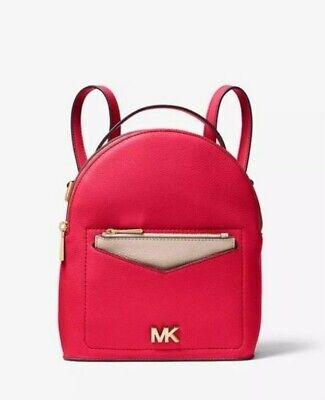 Brand New Michael Kors Jessa Convertible Deep Pink Leather Backpack RRP£250