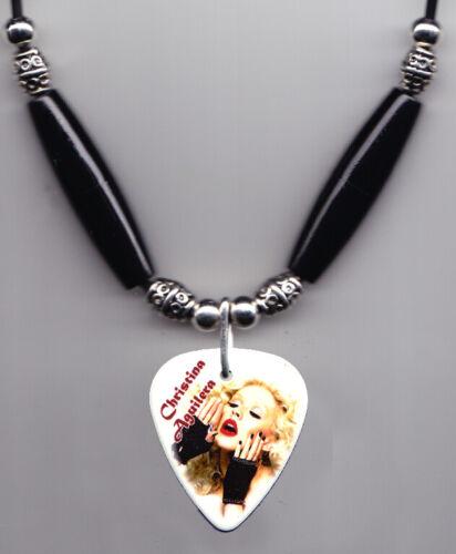 Christina Aguilera Photo Guitar Pick Necklace