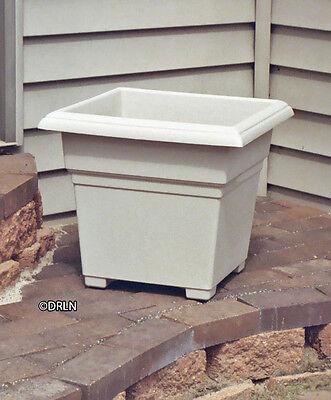 18″ square Adobe tan Countryside Planter | Plastic Flower pot ()