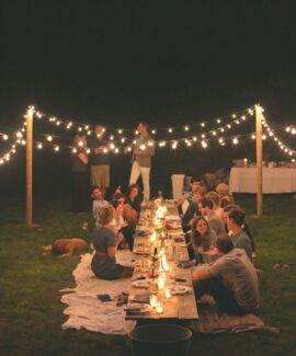 Vintage Festoon Lighting Hire Perth $50 & free delivery