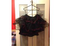 Tutu, black and red, size S-M