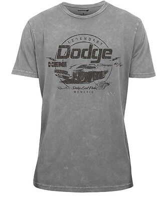 New Men's Gray Dodge Hemi T-Shirt T Shirt Short Sleeve Classic Large