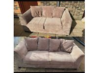 Lovely beige 2 and 3 seater sofas VGC can deliver