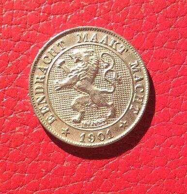 Belgique - Léopold II - Superbe monnaie de 5 Centimes 1901 VL   date rare