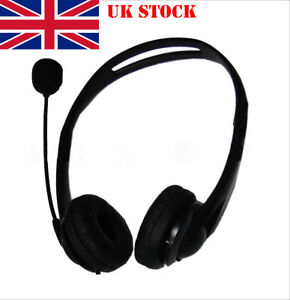 UK USB Noise Cancelling Microphone Headset Call Centre Office Telephone Corded
