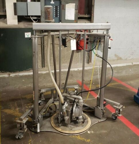 Wilden Saniflo Drum Unloading System/Pump Portable on wheeels from Food Plant
