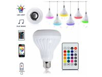 LED Wireless Bluetooth Speaker Light Bulb Music Streaming 12W RGB E27 Lamp Remote