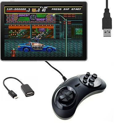 Micro USB Sega Megadrive Controller Gamepad For Android Phone/Tablet Windows PC