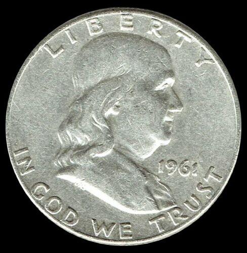 "A 1961-D Franklin Half Dollar 90% SILVER US Mint ""Average Circulation"""