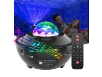 LED Galaxy Projector with Bluetooth Music Speaker