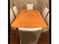 Free extending dining table and chairs!