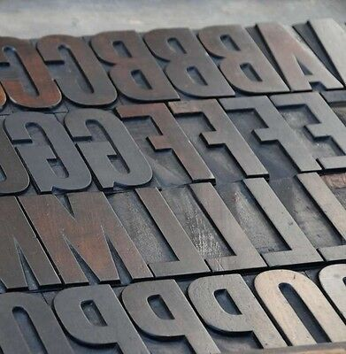 Letterpress Wood Printing Blocks 104pcs 3.19 Tall Alphabet Wooden Type Woodtype