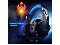 3.5mm Gaming Headset Mic LED Headphones G2000B For Pc,PS4 and Xbox 1