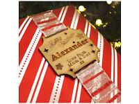 Personalised Christmas gift tag
