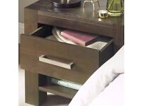 Silver Coloured Modern Straight Bedside Table/Cupboard/Cabinet Drawer Handle.