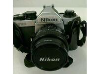 Vintage Nikon FM 2 Chrome 35mm Camera.