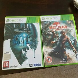 Xbox 360 dead island game & aliens colonial marines game