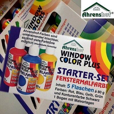 Window Color Starter-Set Ahrenshof 5 Farben + Malvorlagen