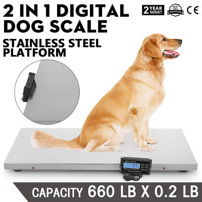660lb Digital Livestock Vet Scale Hog Pet Dog Sheep Goat Scale Power Pet Dog