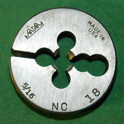 516 X 18 Nc Hss 1-12 Diameter Round Adjustable Die- Used F-1-5-1-90