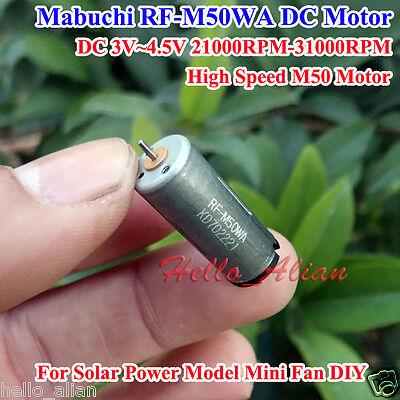Mabuchi Dc 3v4.5v 31000rpm High Speed Mini 10mm Cylinder M50 Dc Motor Diy Toy