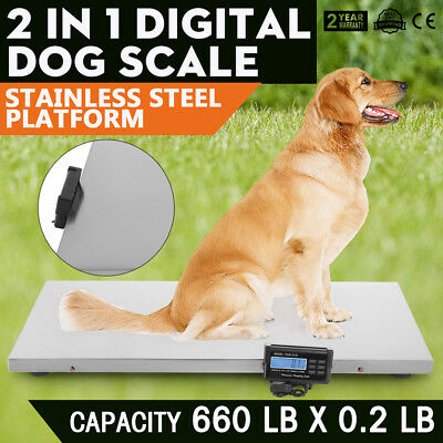 660lb Digital Livestock Vet Scale Hog Pet Dog Sheep Scale Goat Scale Overload