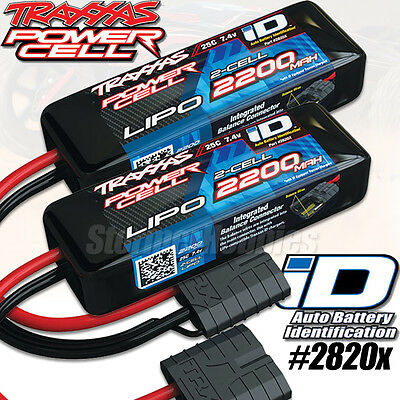 (2) NEW Traxxas 2S 7.4V 2200mAh 25C LiPo Battery 1/16 E-Revo Slash 4X4 VXL 2820X